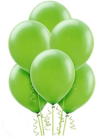 "12"" Green Latex Balloons - 10CT-0"