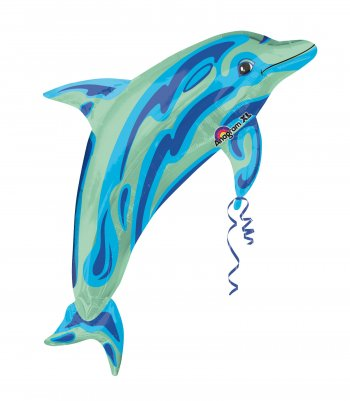 Blue Dolphin Balloons 37in P30-0