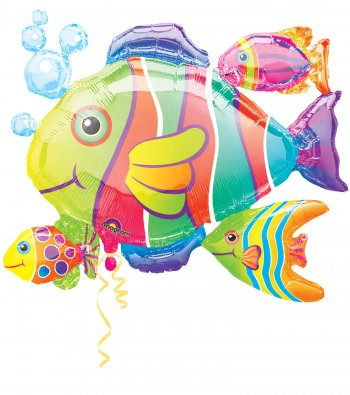 "Tropical Fish Cluster Super Shape Balloons 30"" P40-0"