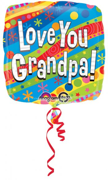 "Colorful Love You Grandpa 18"" S40-0"