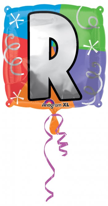 """18"""" Square Letter R Balloons S30 -0"""