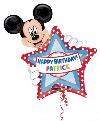 Personalized Mickey Birthday Balloons 30in P40-0