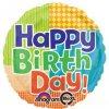 "Bold Pattern Birthday Balloons 18"" S40-6778"