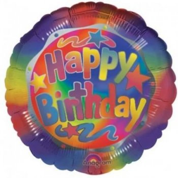"Birthday Bright Balloons 18"" S40-0"