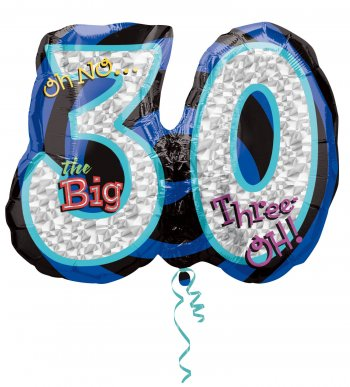 "Oh No! The Big 30 Birthday Balloons 27"" P40-0"