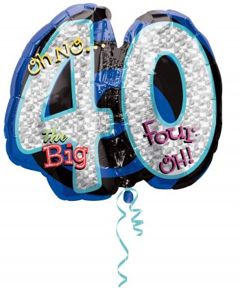 "Oh No! The Big 40 Birthday Balloons 27"" P40-0"