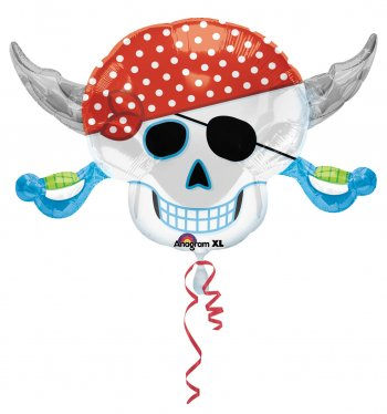 "Pirate Party Skull Balloons 28"" P35-0"