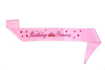 Birthday Princess Satin Sash-0