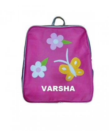 Personalised Backpacks-Flowers and Butterflies-0