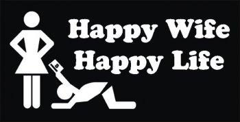 Happy Wife Happy Life Photo Prop-0