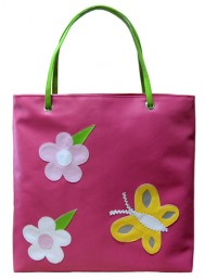 Personalised Handbags- Flowers and Butterflies-0