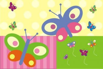 Personalized Table Mats-Flowers and Buterflies-0