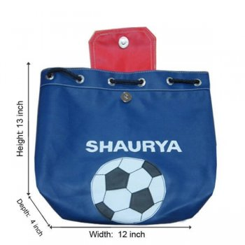 Personalised Backpacks-Soccer String Bag-0