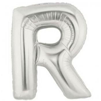 Letter R Silver Mylar Balloons-0