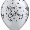 """Birthday Elegant Sparkles & Swirls 11"""" - 10CT-0"""