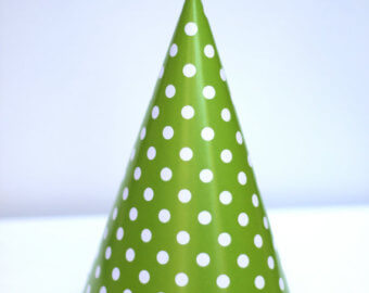 Polka Dot Caps Green - 10PC-0