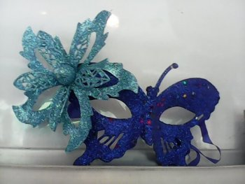 Glitter Butterfly Eye Mask Blue-0