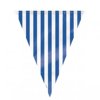Striped Flag Buntings Blue - 9FT-0