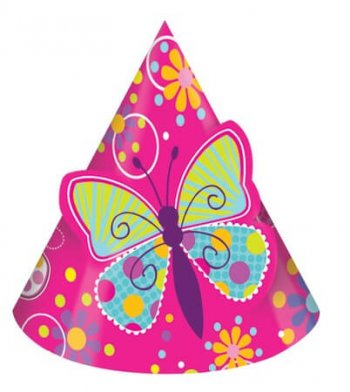Butterfly Sparkle Pop Out Hat - 8CT-0