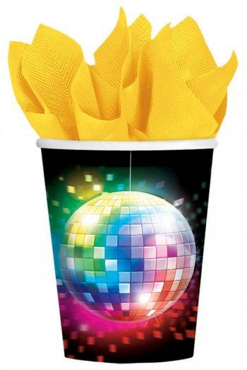 Disco Fever Cups 9oz - 8CT-0