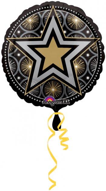 "Glitter Starz Print Balloons 18"" S30-0"