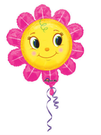 "Smiley Pink Flower Large Balloons 29"" P30-0"