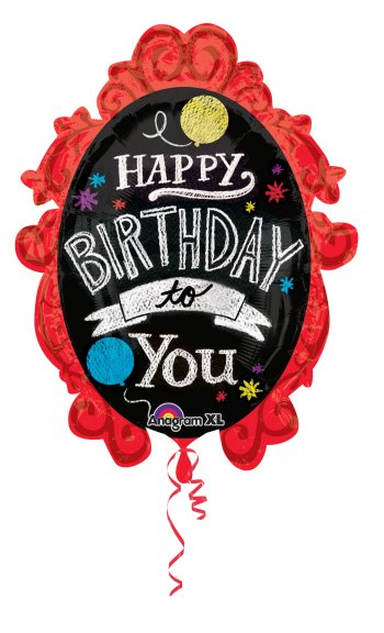 "Chalkboard Frame Happy B'day Balloons 30"" P35-0"