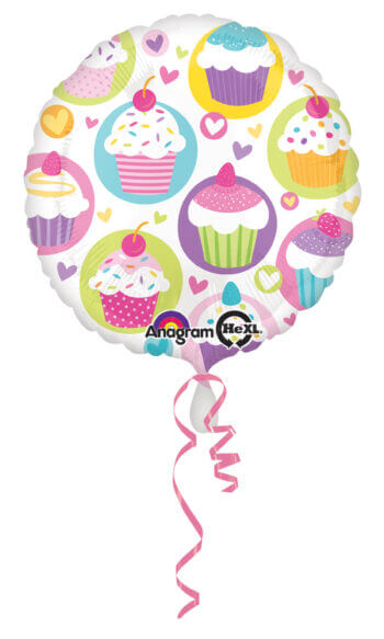 "Cupcake Party Balloons 18"" S40-0"