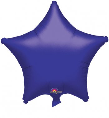 "Metallic Purple Star Balloons 19"" S15-0"