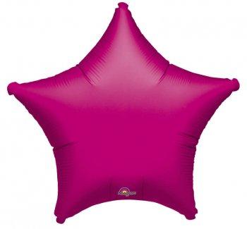 """Metallic Fuchsia Star Balloons 19"""" S15-0"""