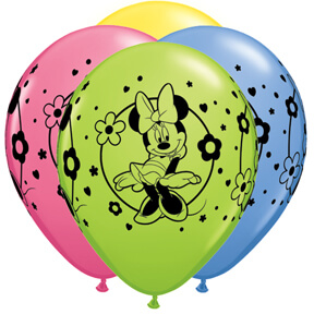 """Minnie Mouse Round Balloons 11"""" 10CT-0"""