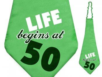 Life Begins @ 50 XL Tie-0