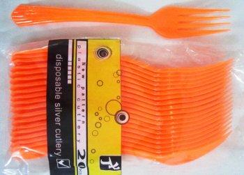 Forks Premium Plastic Orange - 20CT-0