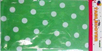 Polka Dot Plastic Table cover Green-0