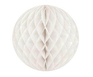 """10"""" Honeycomb Ball White-0"""