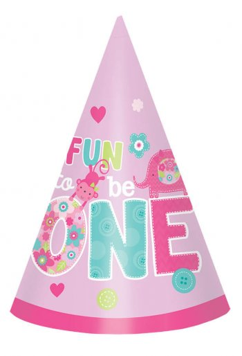 One Wild Girl Cone Hat - 8CT-0