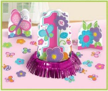Butterflies & Flower Table Decoration Kit - 23pcs-0