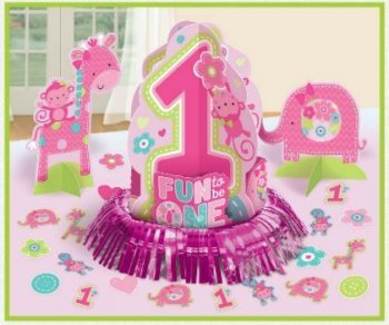 One Wild Girl Table Decoration Kit - 23pcs-0