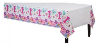 "Butterflies & Flowers Pl. Tablecover 54 X 108""-0"
