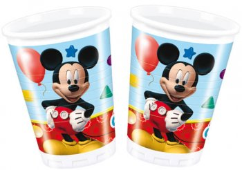 Mickey Mouse Plastic Cups - 8CT-0