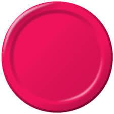 """7"""" Premium Plastic Hot Pink Plates - 20CT-0"""