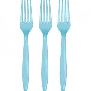 Forks Premium Plastic Powder Blue - 20CT-0