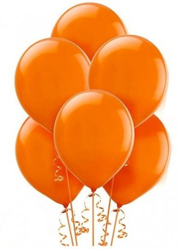 "12"" Orange Latex Balloons - 100CT-0"