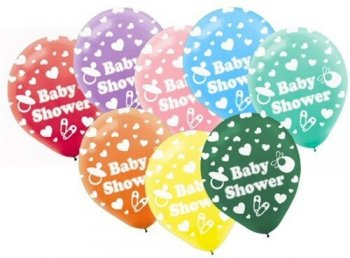 Baby Shower Latex Balloons - 20CT-0