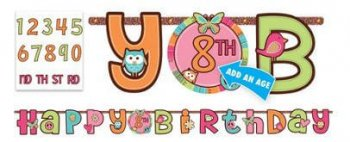 Hippie Chick - Add an Age Letter Banner 10.5ft x 10in-0
