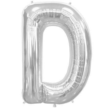 Letter D Silver Mylar Balloons-0