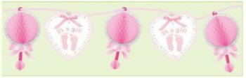 Baby Soft Honeycomb Paper Garland 12ft-0