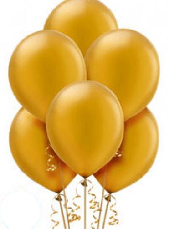 "Golden Latex Balloons 12"" - 10CT-0"