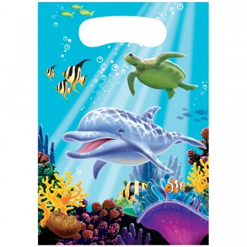 Underwater Theme Party Loot Bags - 8CT-0