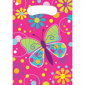 Butterfly Sparkle Loot Bags - 8CT-0